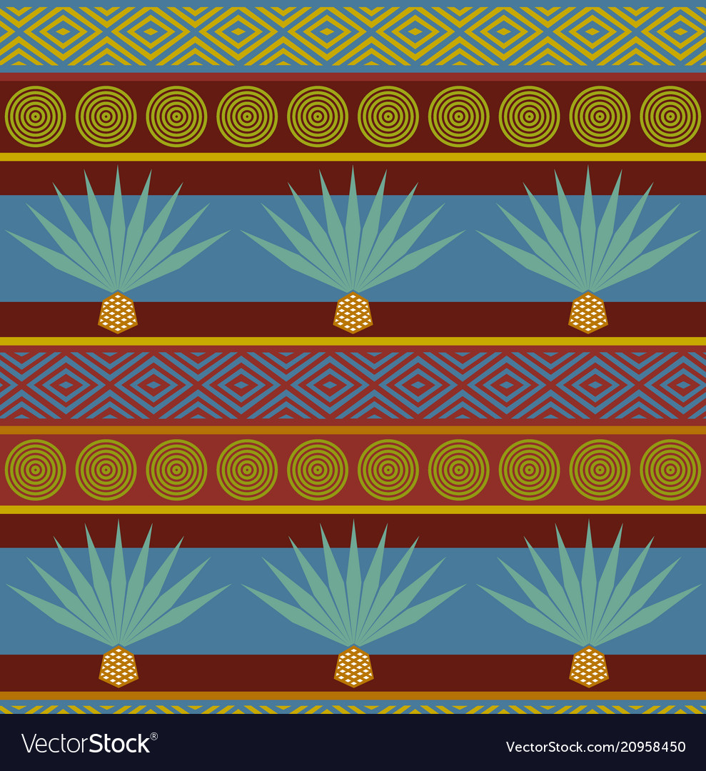 Abstract tribal ethnic background bright seamless