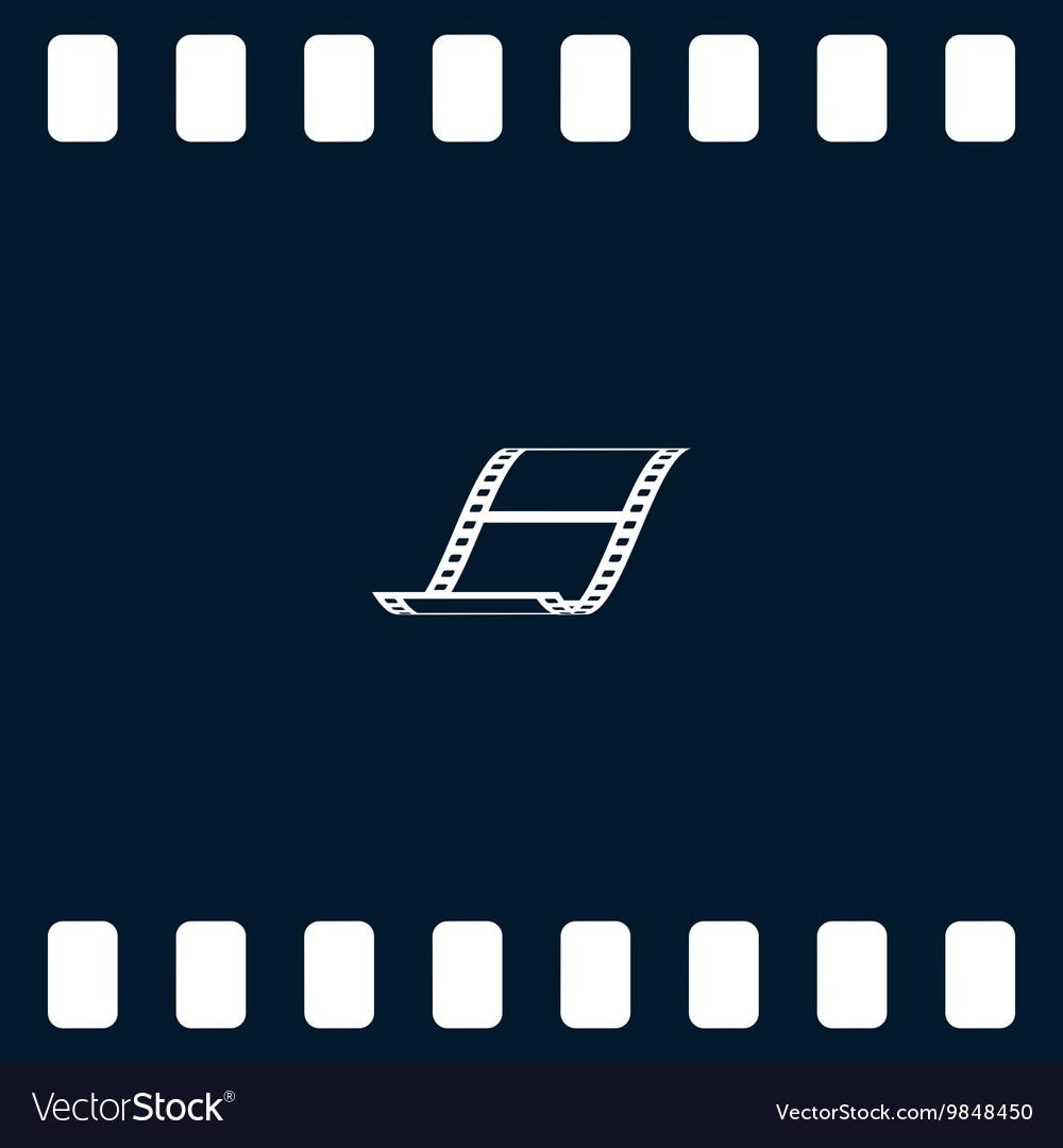 Blank film strip icon vector image