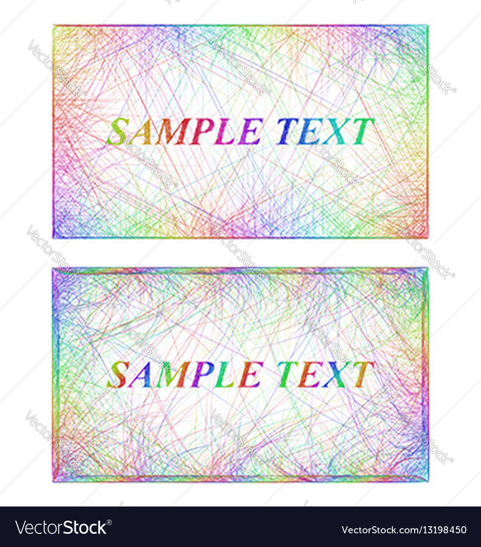 Business card border templates in rainbow colors vector image friedricerecipe Images