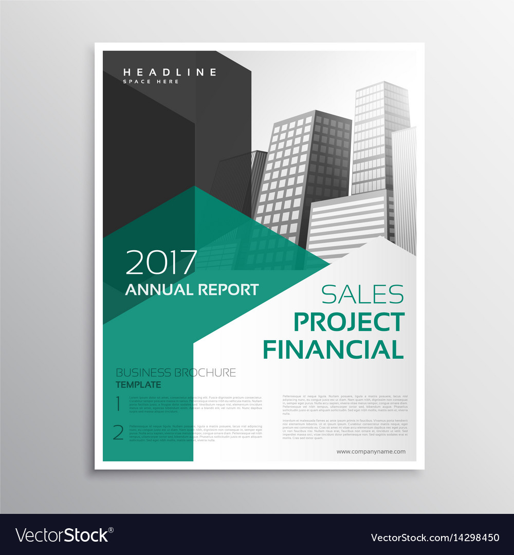 Clean business brochure annual report template vector image accmission Image collections