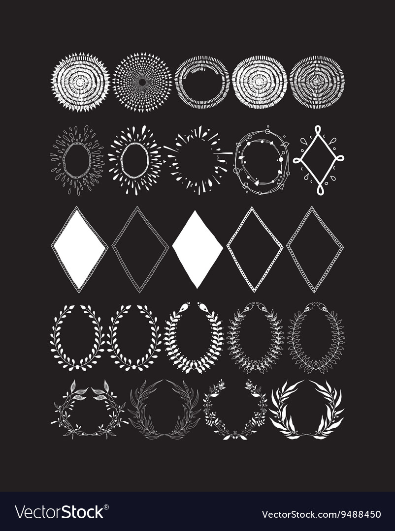 Elements of design vector image