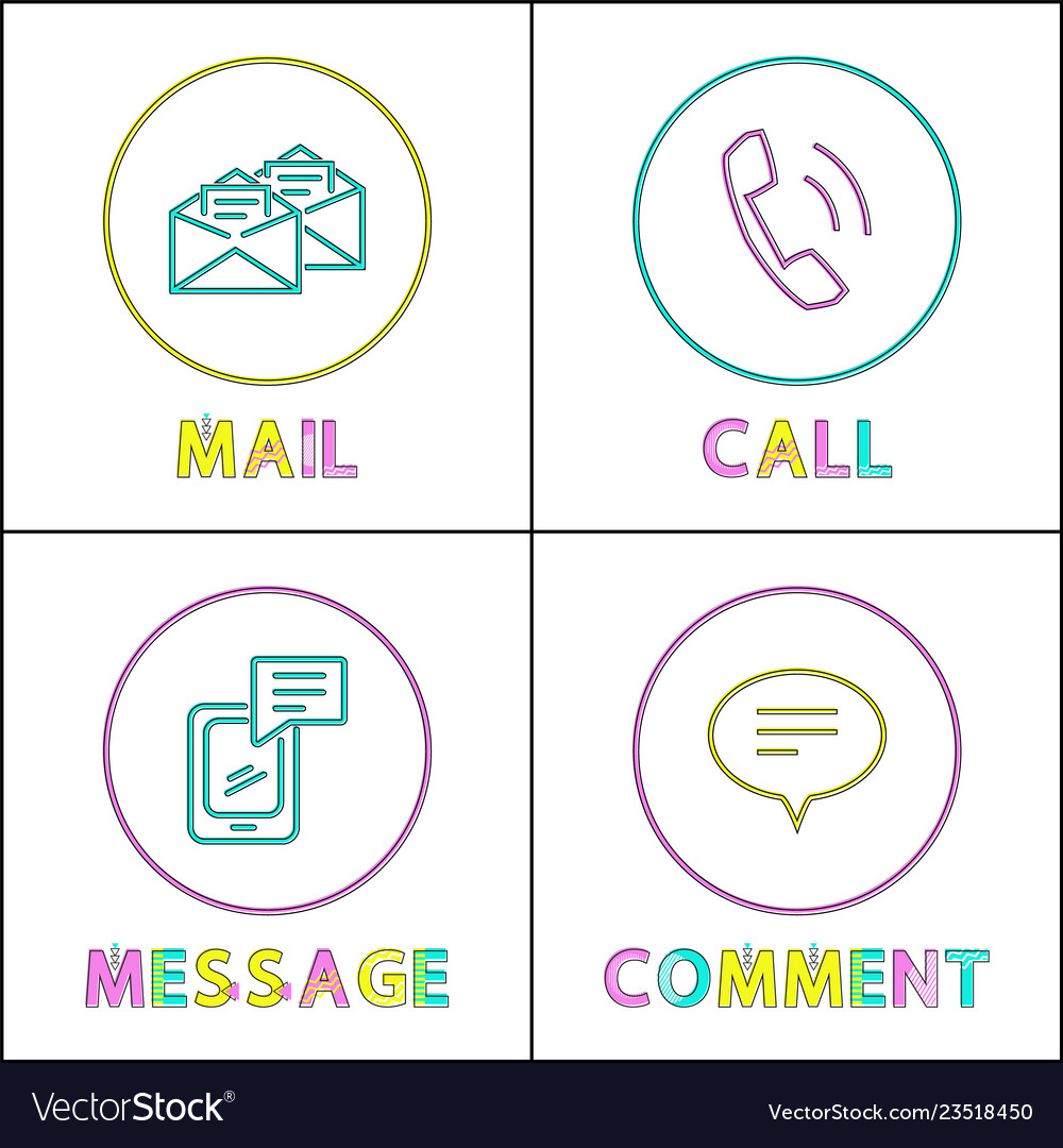 Forms of people feedback icon set in outline style
