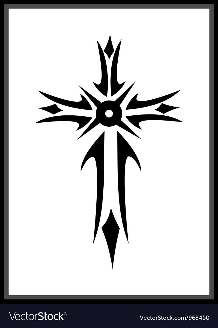 Grunge gothic cross