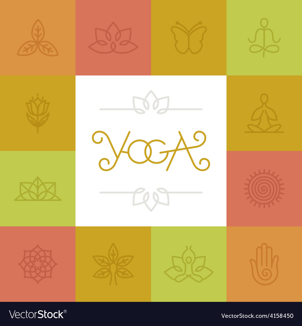 Linear yoga logo vector image