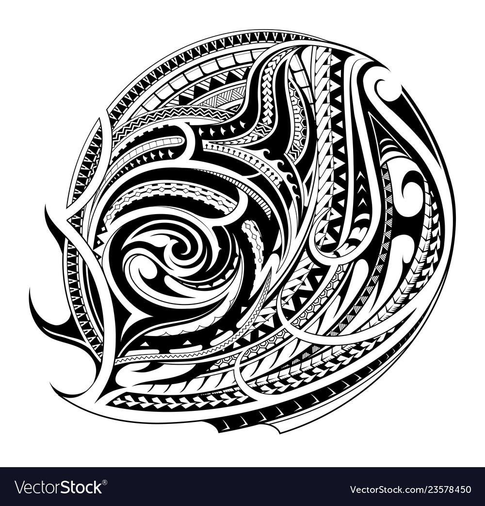 8f65c42fdcf49 Maori style tattoo shape Royalty Free Vector Image