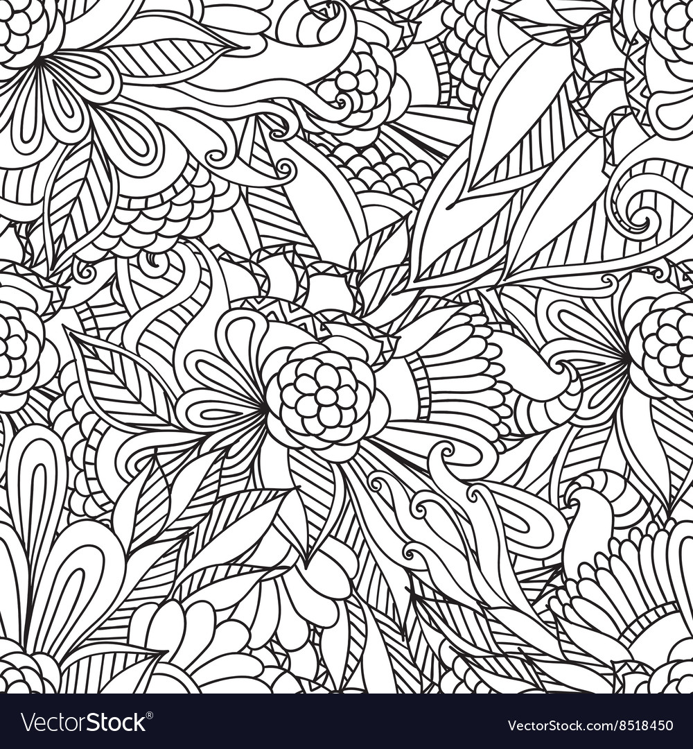 Pages for adult coloring book Hand drawn artistic
