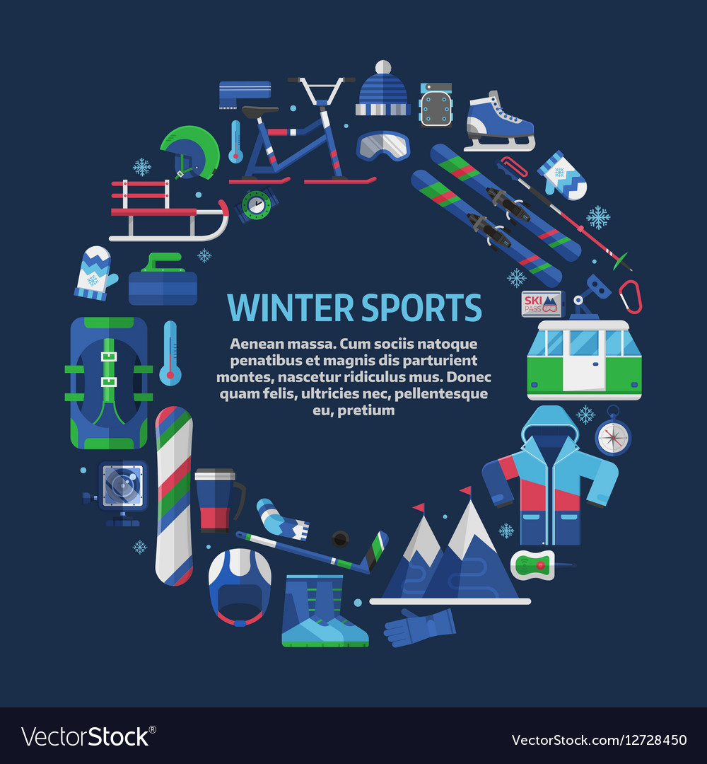 Winter sports card template royalty free vector image winter sports card template vector image maxwellsz