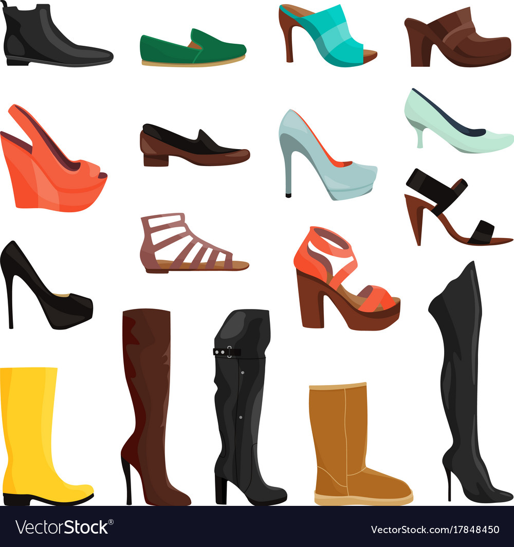 Women shoes in different styles