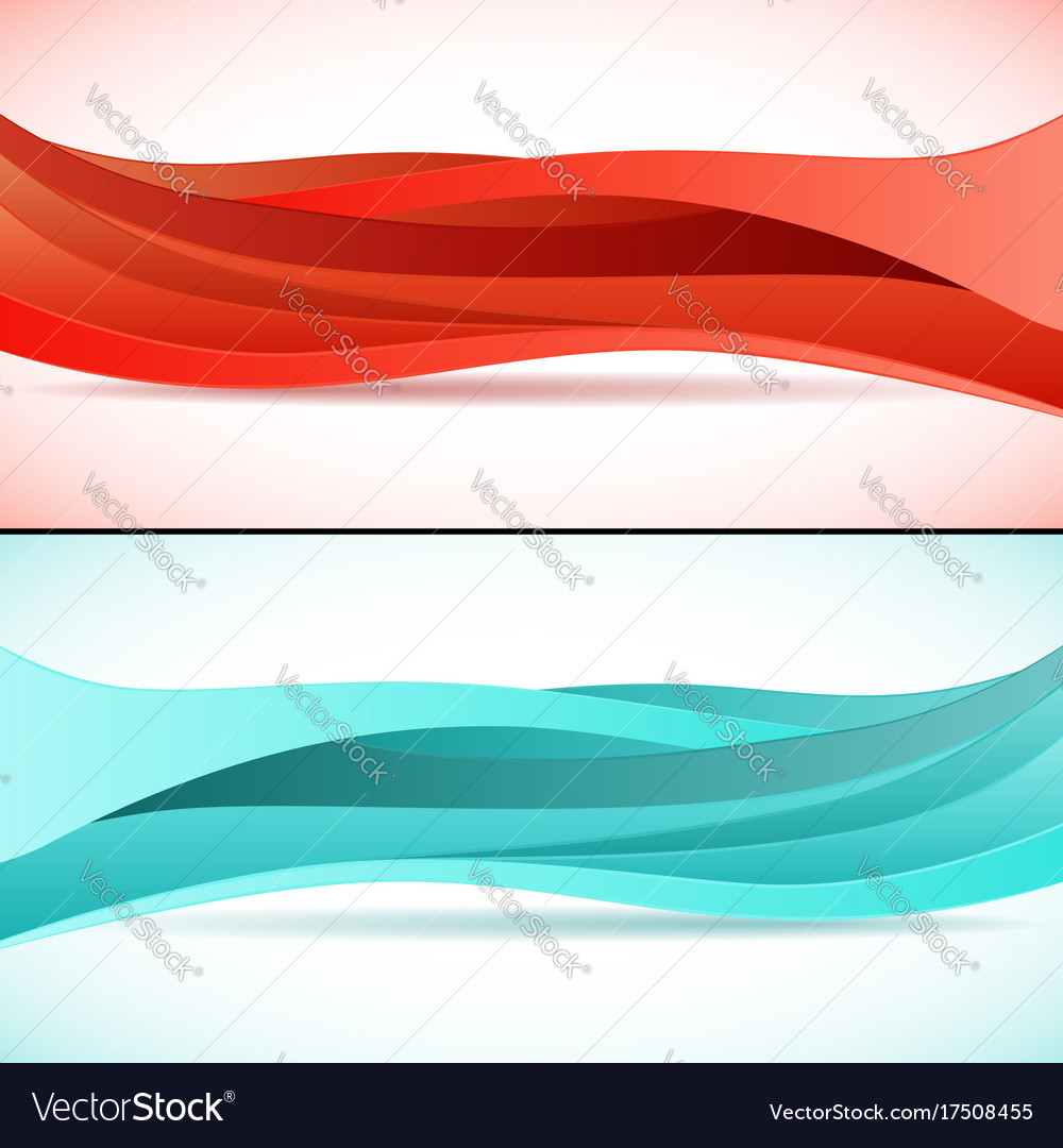 Abstract waves backgrounds set vector image