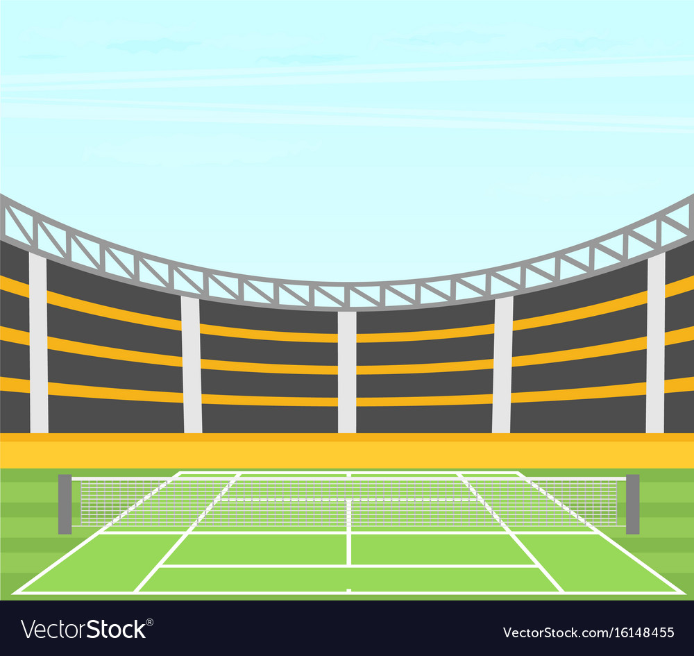 Background Of Tennis Court Royalty Free Vector Image