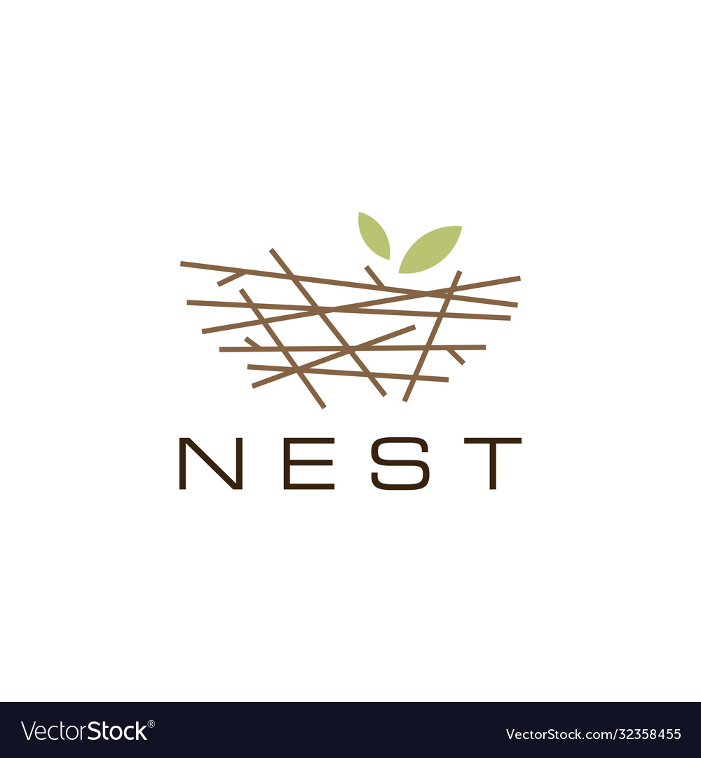 Bird nest logo icon