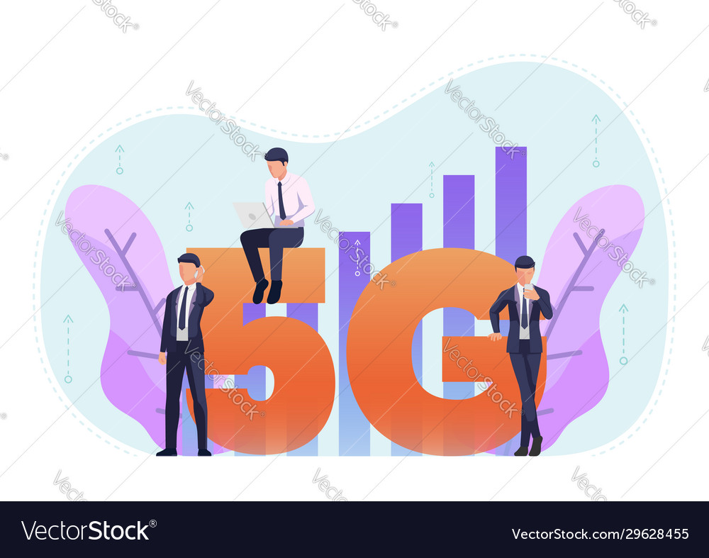 Business people use 5g in various activities
