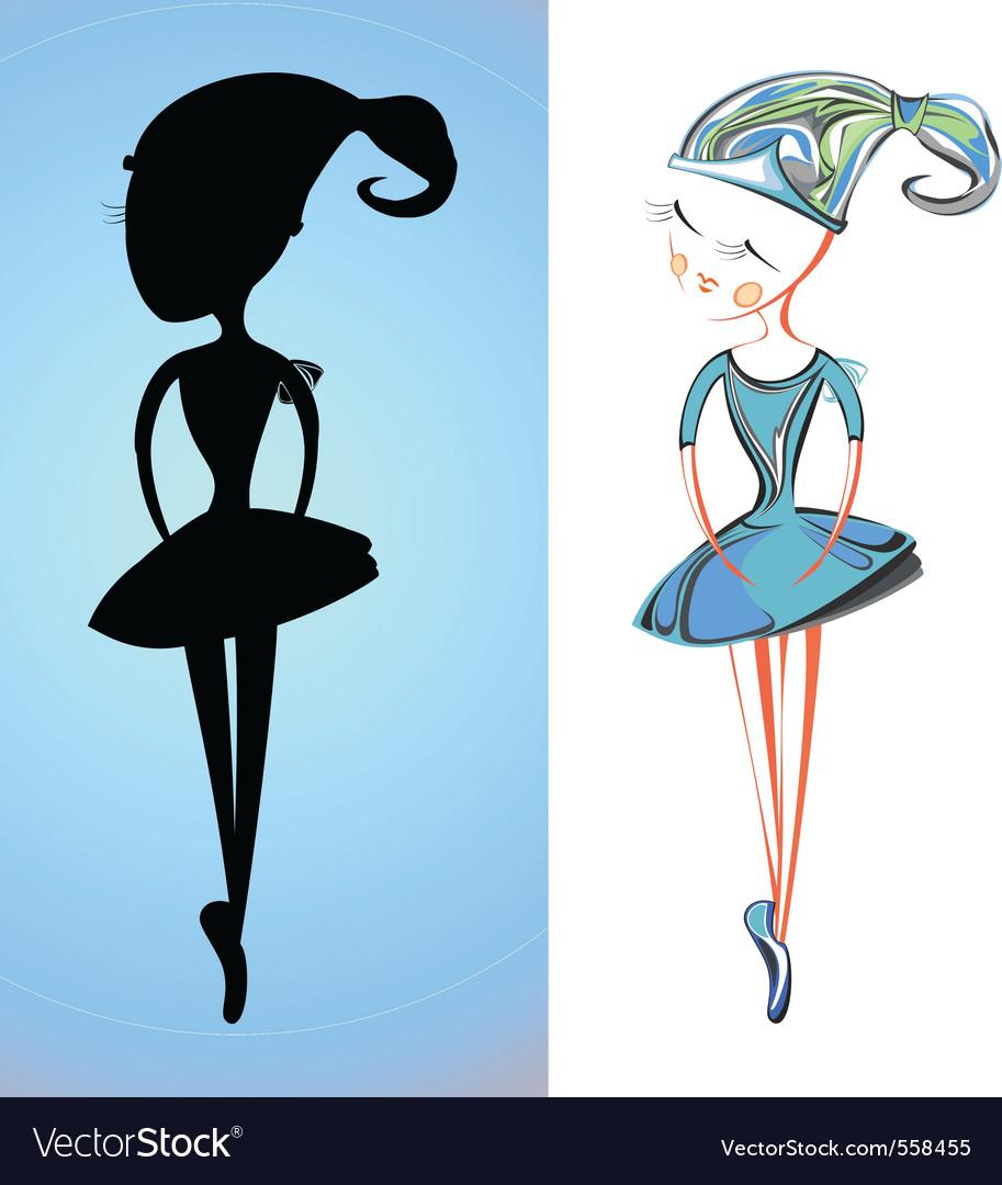 Cartoon ballerina