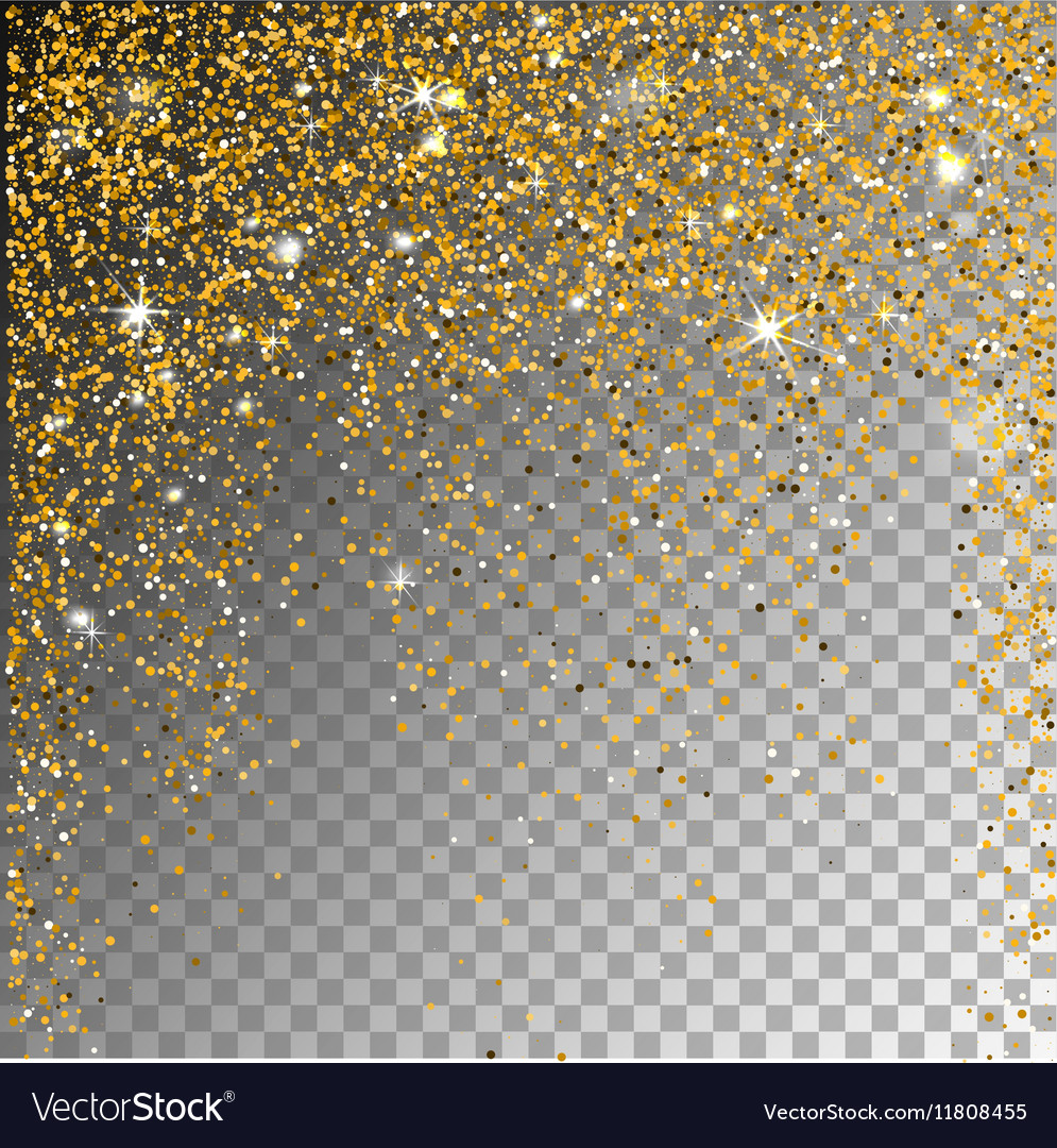 Falling snow on a transparent sparcle background