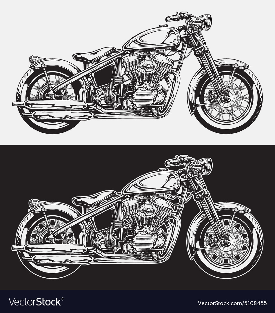 Hand Inked Motorcycle