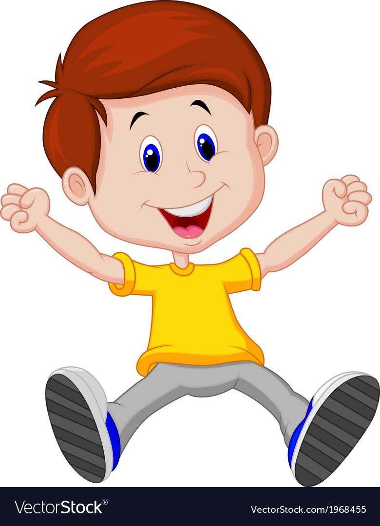 Happy boy cartoon royalty free vector image vectorstock - Cartoon boy wallpaper ...