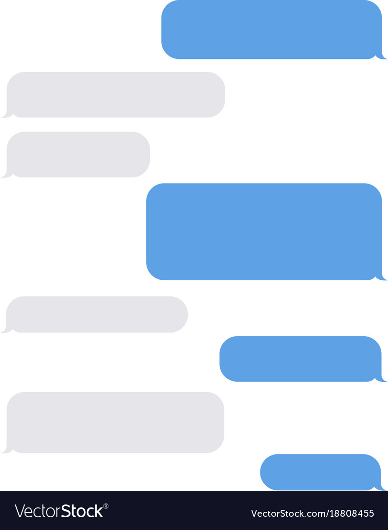 Blank Text Message Bubble Message empty bubbles ...