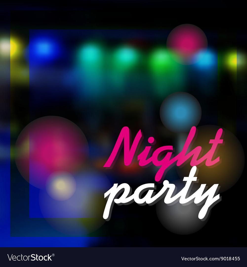 Night party dark background