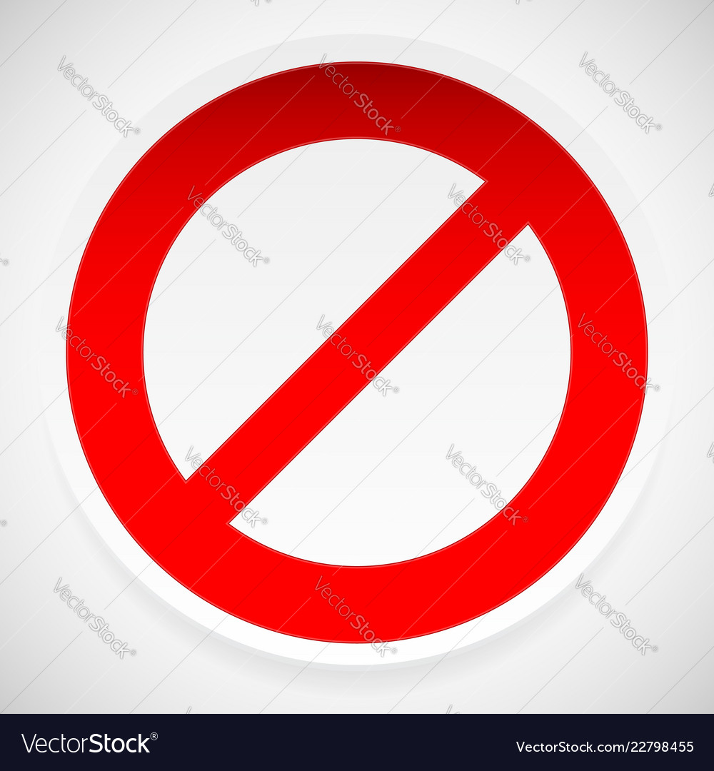 Prohibition deny sign vector image