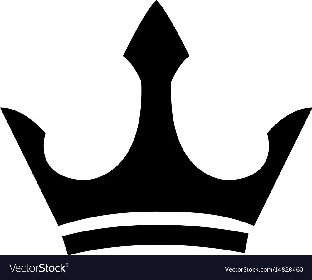 Black heraldic crown ornament object