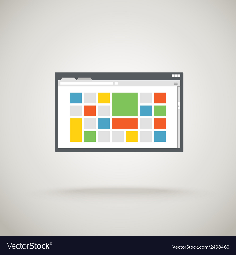 Browser window with color tile