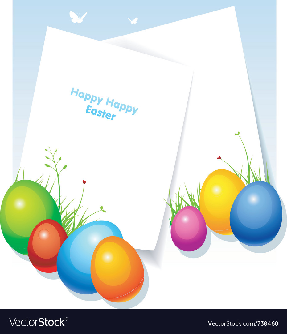 Easter back vector image