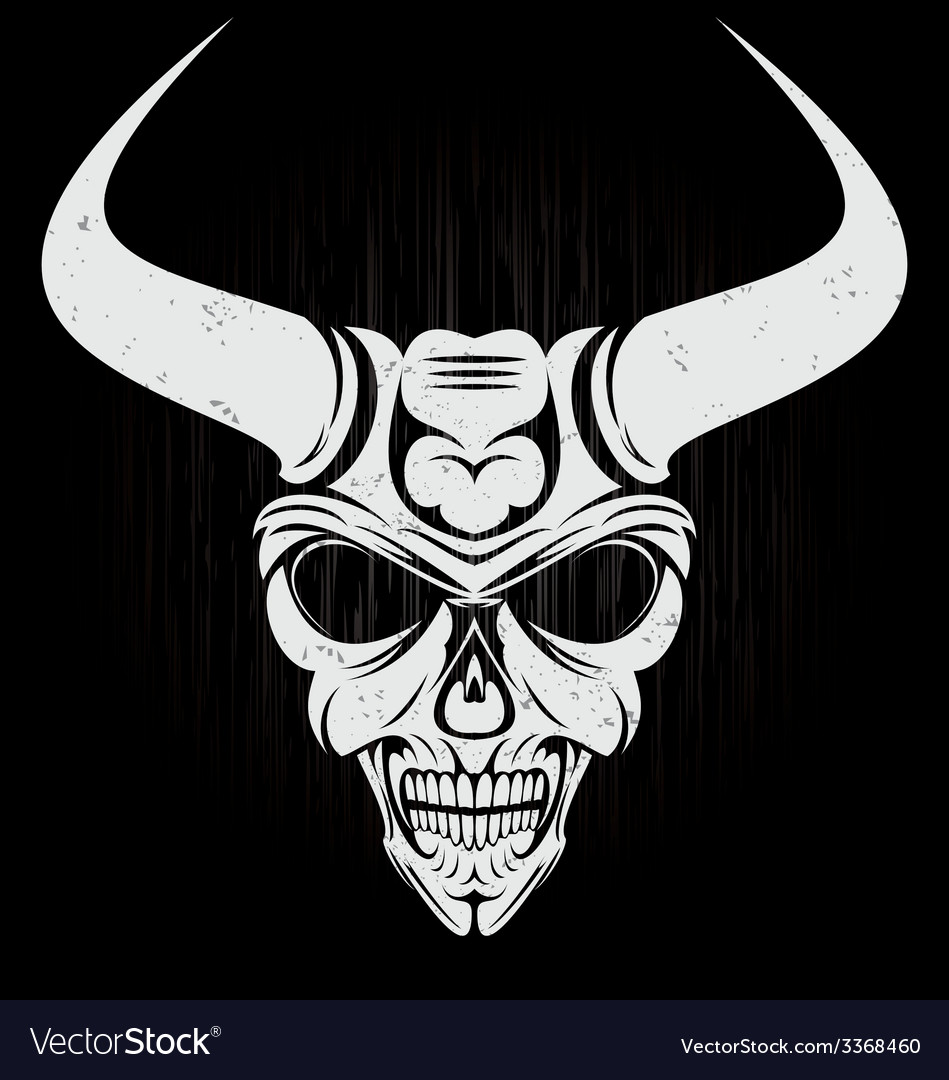 Scary Demon Face vector image