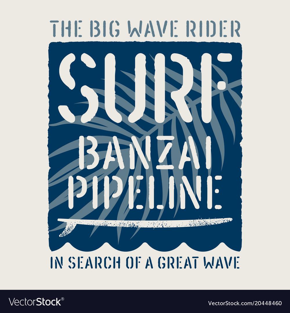 Surfing print 019