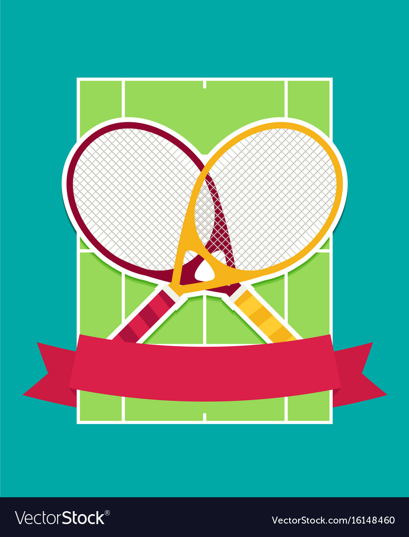 Tennis rackets and cord flat