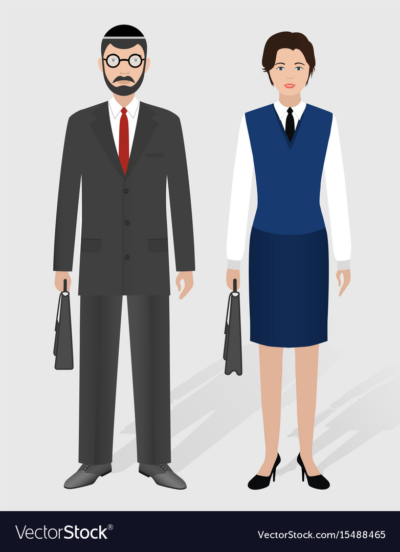Business people concept couple of jewish
