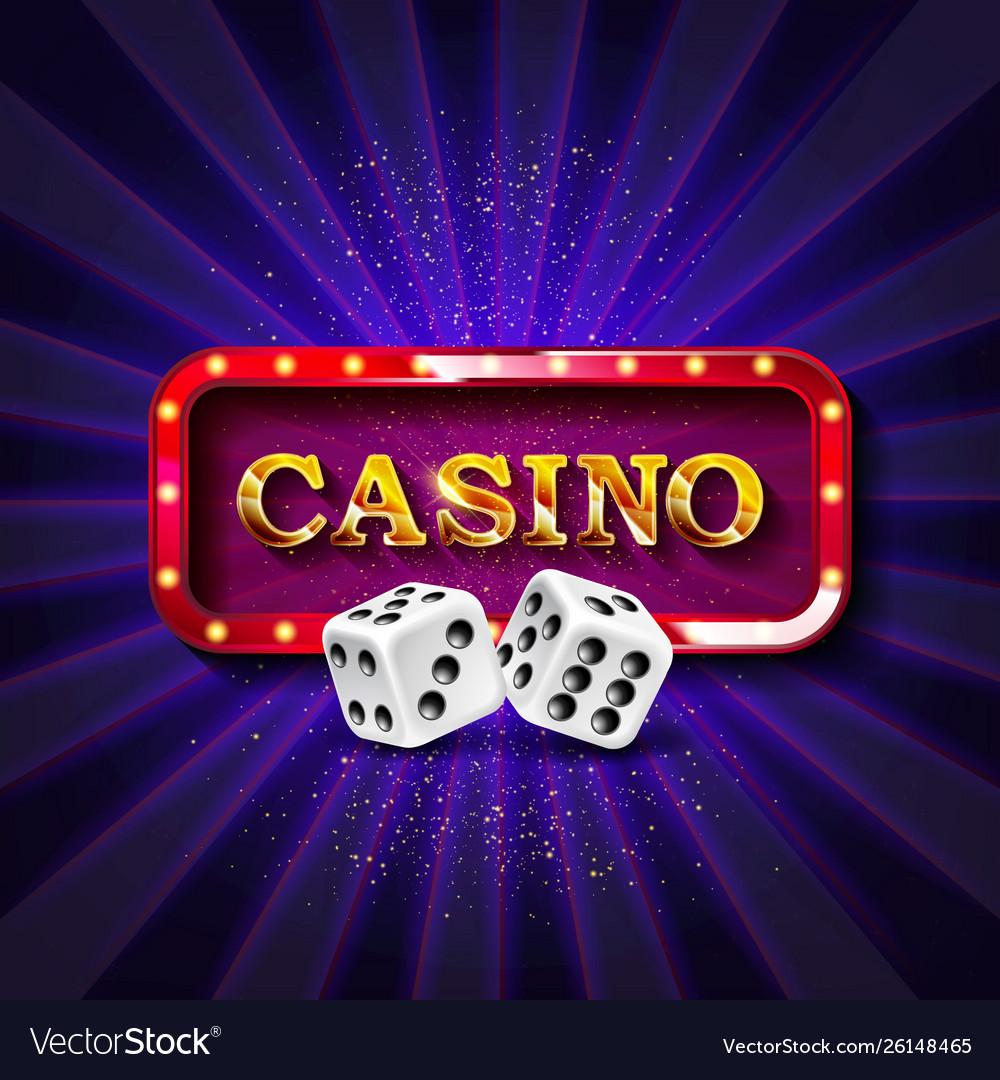 Casino dice banner signboard