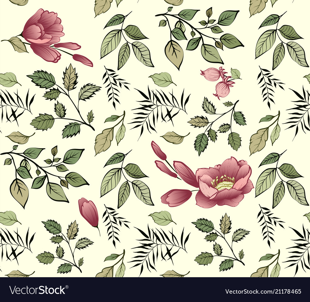 Fashionable flower pattern seamless textur vector image