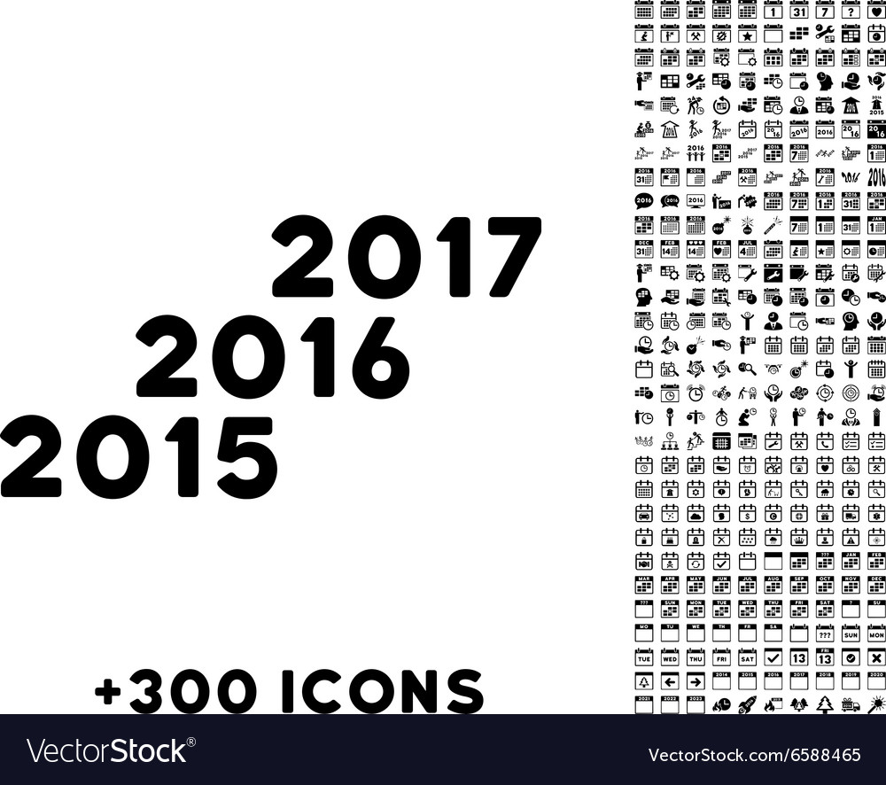 From 2016 To 2017 Years Icon