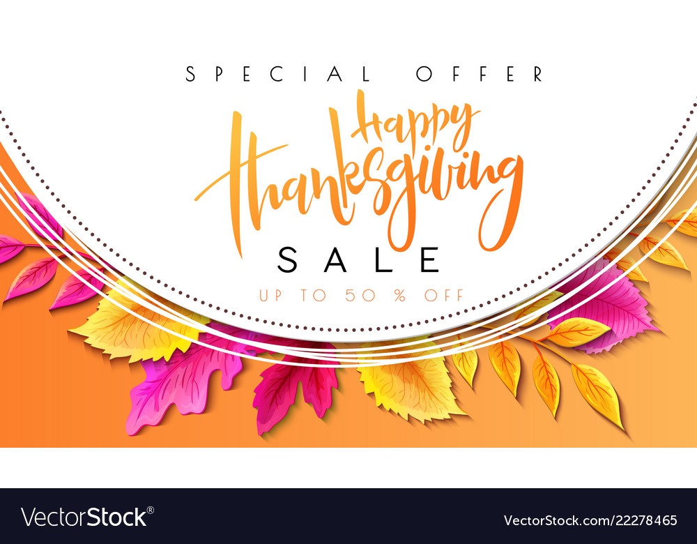 Greeting thanksgiving promoution banner