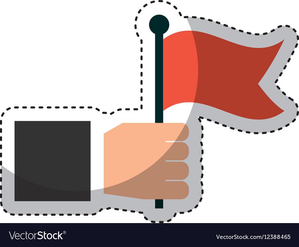 Hand human with flag