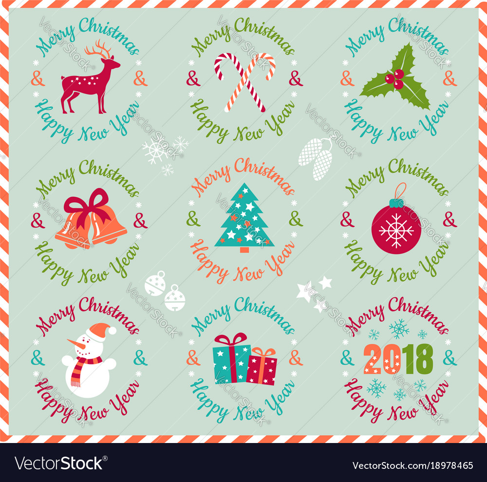 Icons for christmas and new year