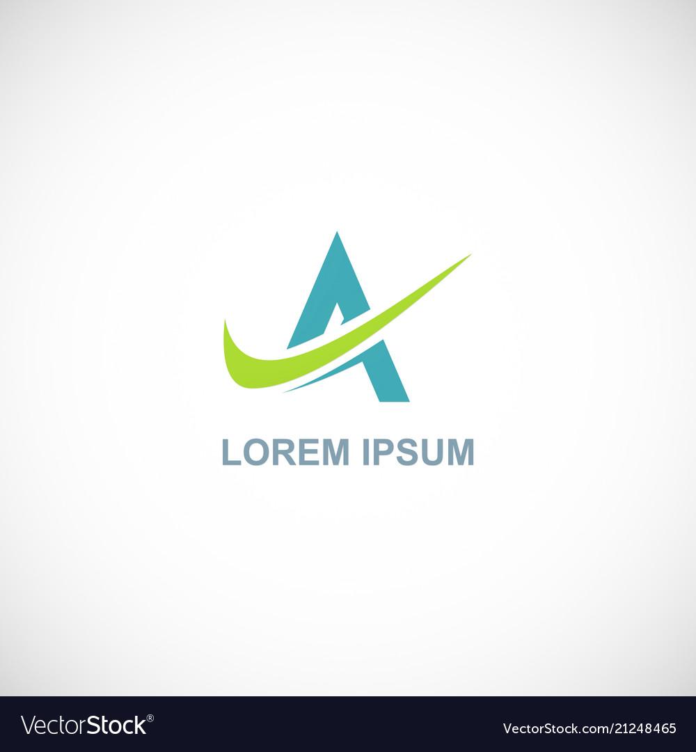 Letter a loop company logo