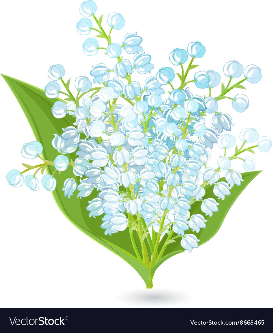 Lovely bouquet of small spring flowers Lilies Of Vector Image