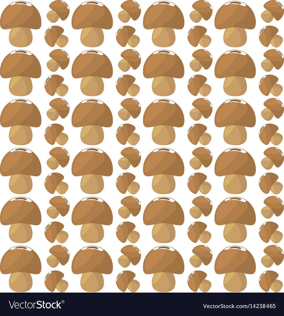 Mushroom food healthy seamless pattern vector image