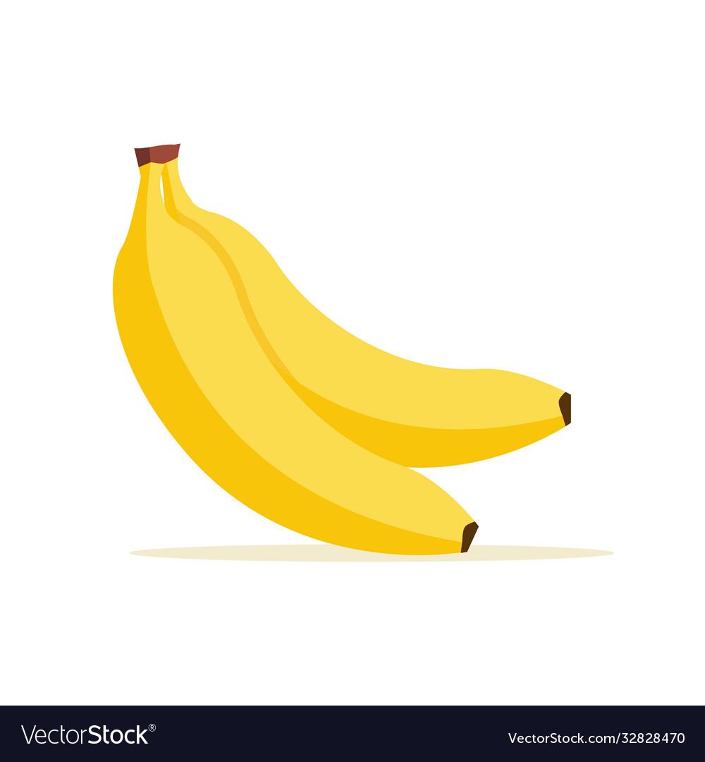 Banana cartoon isolated icon flat banana