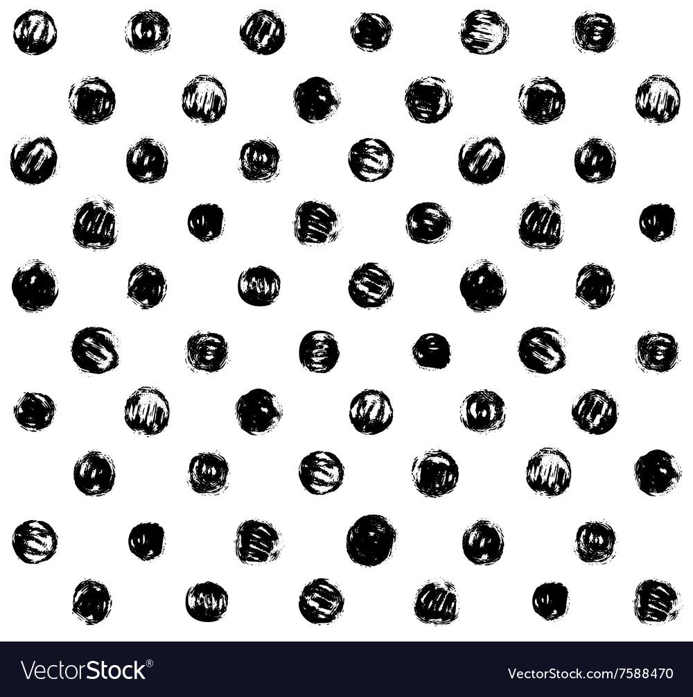Grunge Polka Seamless Pattern