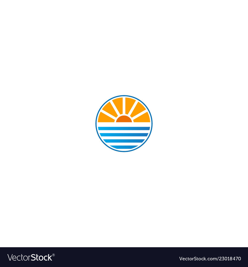 Horizon nature sea and sun logo