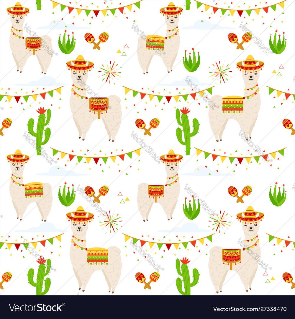 Llama alpaca cactus maracas