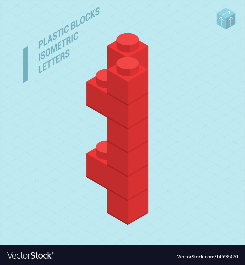 Plastic blocs letter i