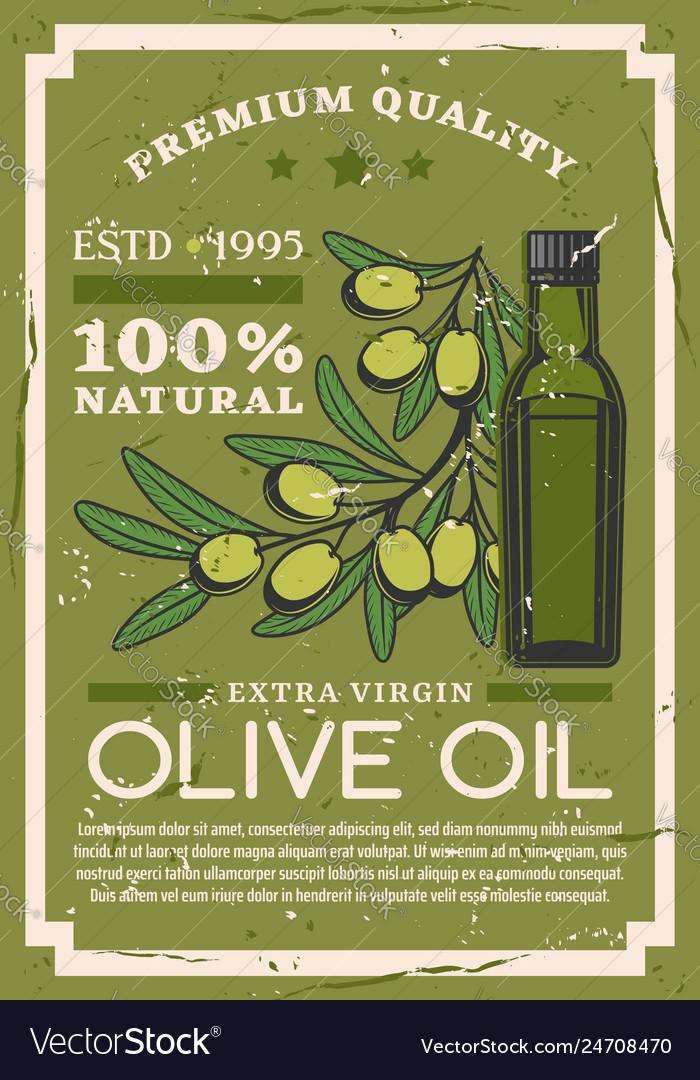 Premium quality extra virgin olive oil bottle