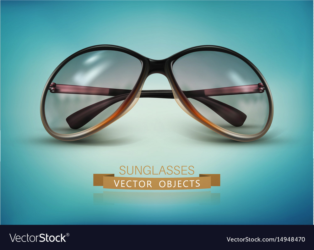 Sunglasses isolated on a blue background