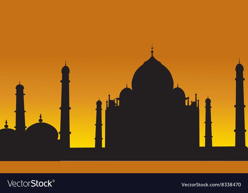 Taj Mahal Of Silhouette