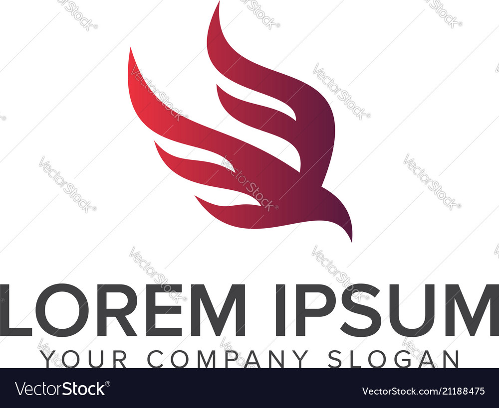 Abstract bird logo design concept template