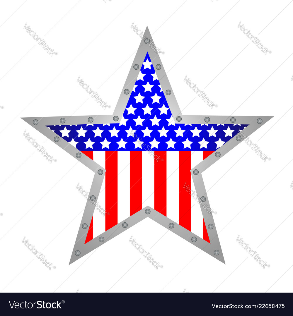 American star metal icon