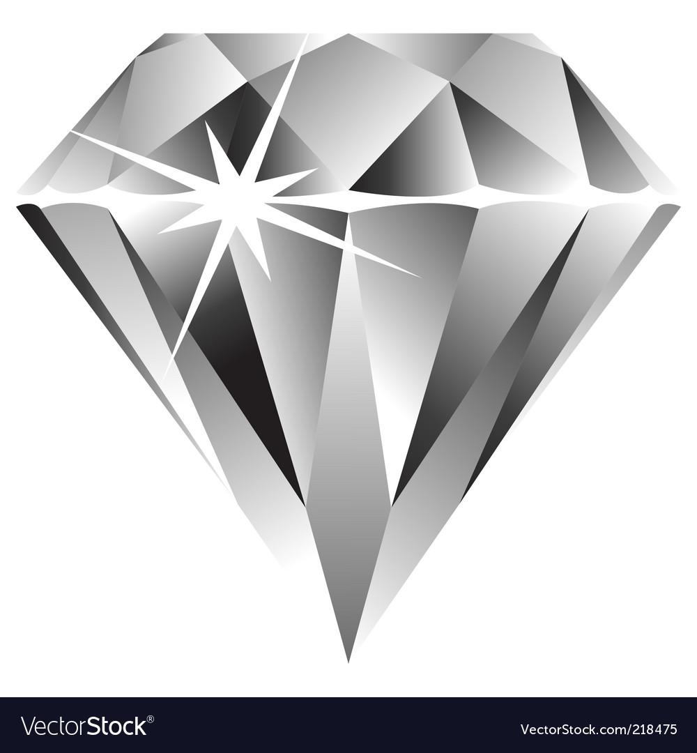 diamond royalty free vector image vectorstock rh vectorstock com diamond vector brushes for photoshop diamond vector free download